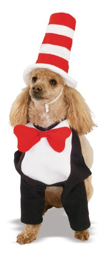 Cat in the Hat Pet Costume, Medium