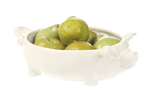 Creative Co-Op Dolomite Pig Bowl (Creative Fruit Bowl compare prices)