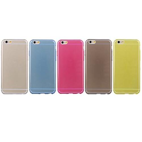 Feilan 史上 最薄 極薄 軽量 シンプル おしゃれ な Apple アップル iPhone 6 Plus 5.5 インチ ケース カバー アイフォン スマホ スマートフォン( docomo ( ドコモ ) softbank ( ソフトバンク ) au 対応 ) 保護 防水 防塵 耐衝撃  丈夫 頑丈 軽い シリコンケース (クリアイエロー)