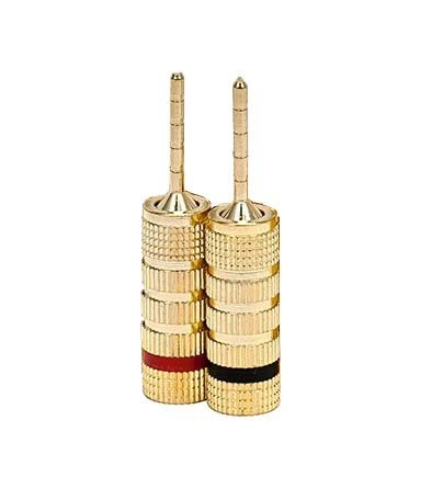 Imbaprice® (1 Pair) Speaker Banana Closed Plugs - Pin Screw Type For Speakers Cable