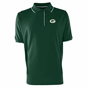 Green Bay Packers Elite Polo Shirt by Antigua