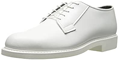 Bates Men's Lites Leather Oxford, White, 6 D