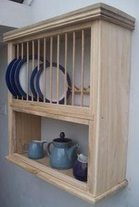 CAMPDEN OAK COMBI PLATE RACK/SHELF