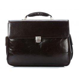 Braun Büffel Texas Briefcase Leather 43 cm Notebook Compartment braun