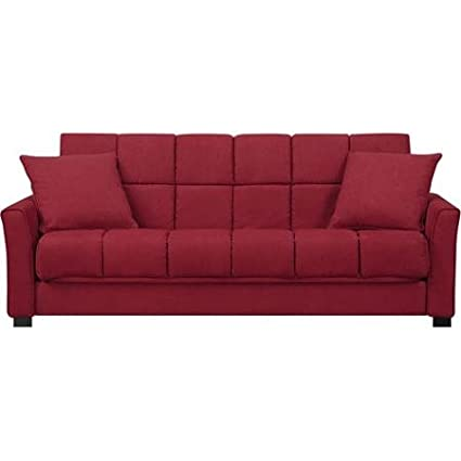 Baja Convert-a-Couch and Sofa Bed, Crimson Red