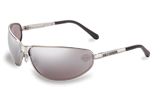 Harley-Davidson HD503 Safety Glasses with Silver Matte Frame and Silver Mirror Tint Hardcoat Lens