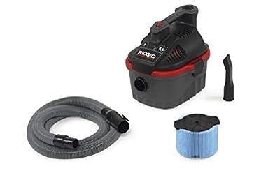 Ridgid 50313 4000RV Wet/Dry Vacuum, 4 Gal, Red