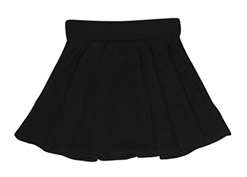 Am Clothes Womens Fall Winter Sexy High Waist Solid Color Mini Skirt Black
