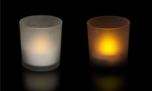 Led Tealight With Frosted Glass Holder