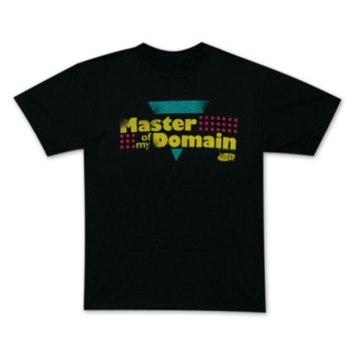 Seinfeld Master of My Domain T-Shirt, Small