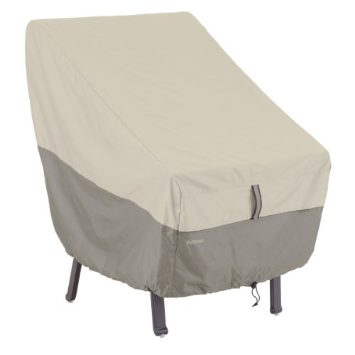 Classic Accessories 55-269-011001-00 Belltown Highback Patio Chair Cover, Grey