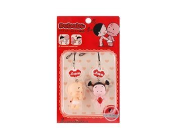 Pendant Mobile Phone Strap Two Kid Image (Red)