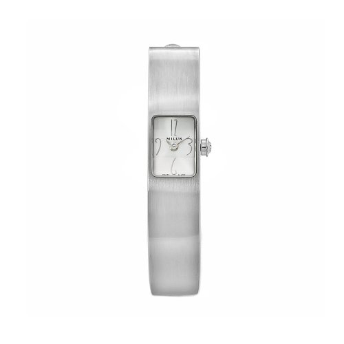 Milus Women's MON010 Monocera Stainless Steel XXS White Dial Bangle Watch