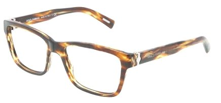DOLCE & GABBANA Eyeglasses DG 3130 Striped Brown/Red