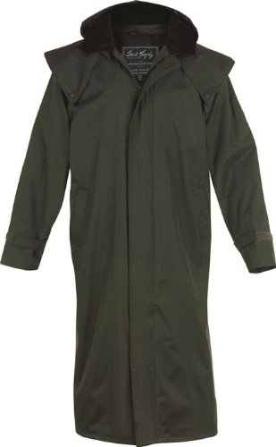 Jack Murphy Lambourne II Mens Full Length 100% Waterproof Bush Coat - X-Large - Olive