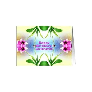 Amazon.com: Girlfriend, Happy Birthday, Orchid Mirror D