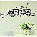 Clearance! Willtoo Kids Vinyl Art Cartoon Owl Butterfly Wall Sticker Decor Home Decal