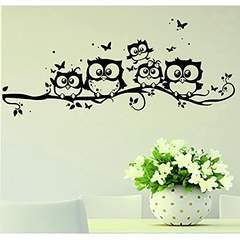 Willtoo Kids Vinyl Art Cartoon Owl Butterfly Wall Sticker Decor Home Decal