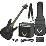 Dean Electric Guitar Starter Pack with Vendetta XMT Metallic Black, 10 Watt Amp, Gig Bag, Cord, Strap, Picks
