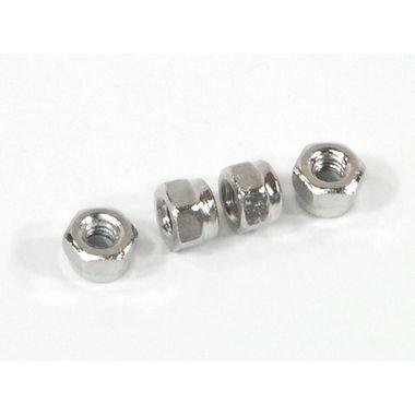 HPI 2.6mm Lock Nut Silver 4 Pcs /Blitz, Savage