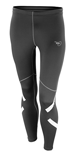 time to run Leggings Pro Catarifrangenti Da Running Ad Asciugatura Rapida Da Uomo Con Zip Nero Dimensione M