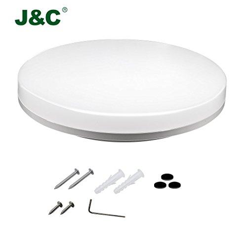 JNC-2-Jahre-Garantie-18W-1550LM-PC-Rund-Badleuchte-Nassraum-LED-Kellerleuchte-Badleuchte-Nassraum-Neutralwei-4000-4500K-90-Sparen-Energieklasse-A