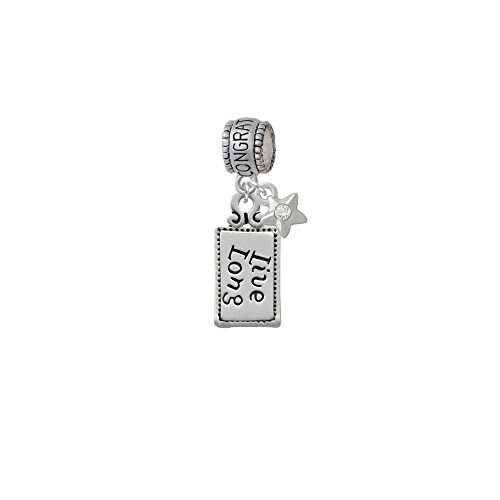Live Long Congratulations Charm Bead With Star front-174479