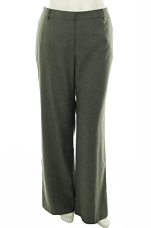 'Jones New York Collection Women's Slash Pocket Flare Leg Pant, Shadow Grey, 16 US