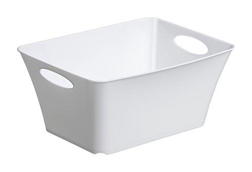 """Allzweckbox """"Living"""" aus Kunststoff, universell einsetzbar als Aufbewahrungsbox in Kinderzimmer, Büro, Bad, Wohnzimmer etc., 5 l, ca. 29.5x21.6x13.5 cm (LxBxH), weiß, auch andere Farben verfügbar"""