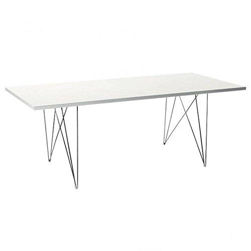 Magis-Tavolo-XZ3-Tisch-rechteckig-wei-Gestell-chrom-200x90cm