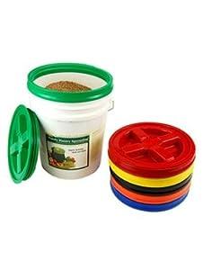 Gamma Screw On 5 Gallon Bucket Lids - Set of 6 - Air & Water Tight Seal
