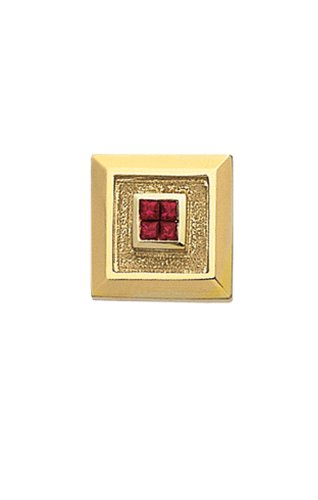 14K Yellow Gold Tie Tac with Rubies-86299