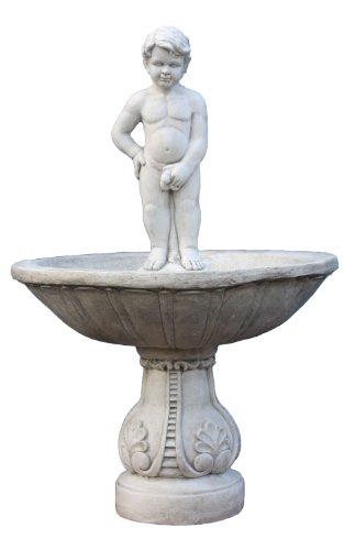 "Nexos trading fontaine décorative ""pissender statue de garçon garçon'urine géant 135 cm"