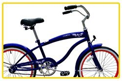 Micargi Famous for Boy - Blue - Beach Cruiser Bike Bicycle, 20