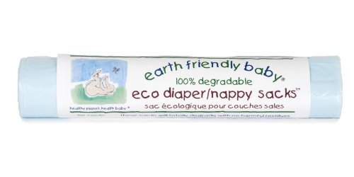 Earth Friendly Baby Eco Nappy Sacks 50 Sacks In A Pack