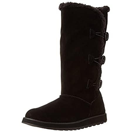 The Keepsakes boots feature soft suede upper with raw edge & stitch details, 3-button loop closure at the side, plush faux fur lining to keep your feet warm and rubber outsole for durability, flexibility & traction. Boot circumference is 15 in. and s...