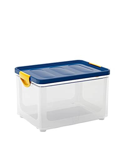 KIS Set 3 Cajas Clipper Box L Trasparente / Azul