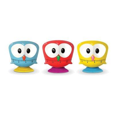 Kikkerland Owl Kitchen Timers, Assorted Colors