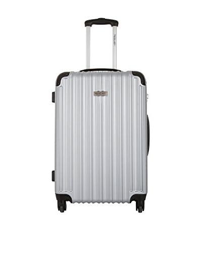 Travelone Trolley rígido  70 cm Plateado