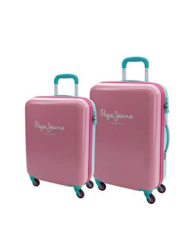 Pepe Jeans 2er Set Hartschalen Trolley  0 cm rosa