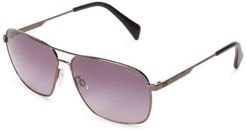 Tommy Hilfiger TH1151S Rectangular Sunglasses,Dark Ruthenium,60 mm