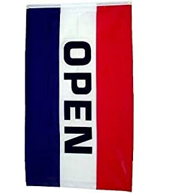Open Flag 3x5 ft 3 x 5 NEW Large Banner SIGN