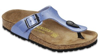 Birkenstock Gizeh Sandals Thong graceful riviera blue Birko-Flor Narrow