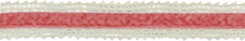 May Arts Ribbons Crochet Edge Velvet Center Ribbon 1'X10 Yards Ivory/Red
