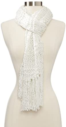 Collection XIIX Women's Star Catcher Scarf, Ivory, One Size