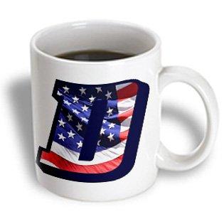 Sandy Mertens Monograms - American Flag D - 11Oz Mug (Mug_172685_1)