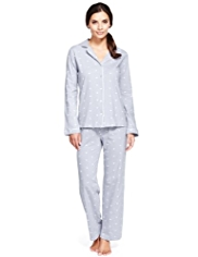 Per Una Pure Cotton Cool Comfort™ Heart Embroidered Pyjamas