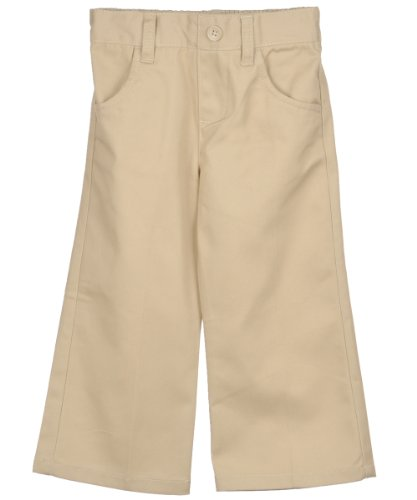 "French Toast Little Girls' Toddler ""Button Flaps"" Wrinkle No More Pants - Khaki, 3T front-956265"
