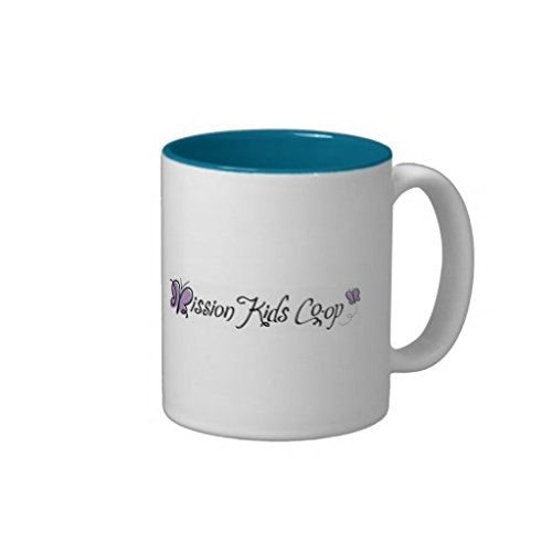 Celebrate The Butterfly (Bright Blue) Mission Kids Coffee Mugs