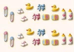 Baby Deluxe Assortment(32804) Edible Hard Sugar Decorations, 24 pcs